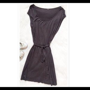 Dresses & Skirts - Belted Jersey Knit Sleeveless Dress